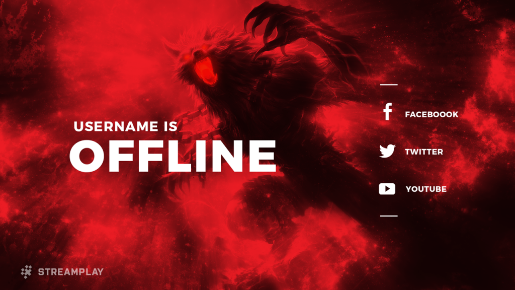 Twitch Offline Banners - Custom and Template Twitch Offline Screens