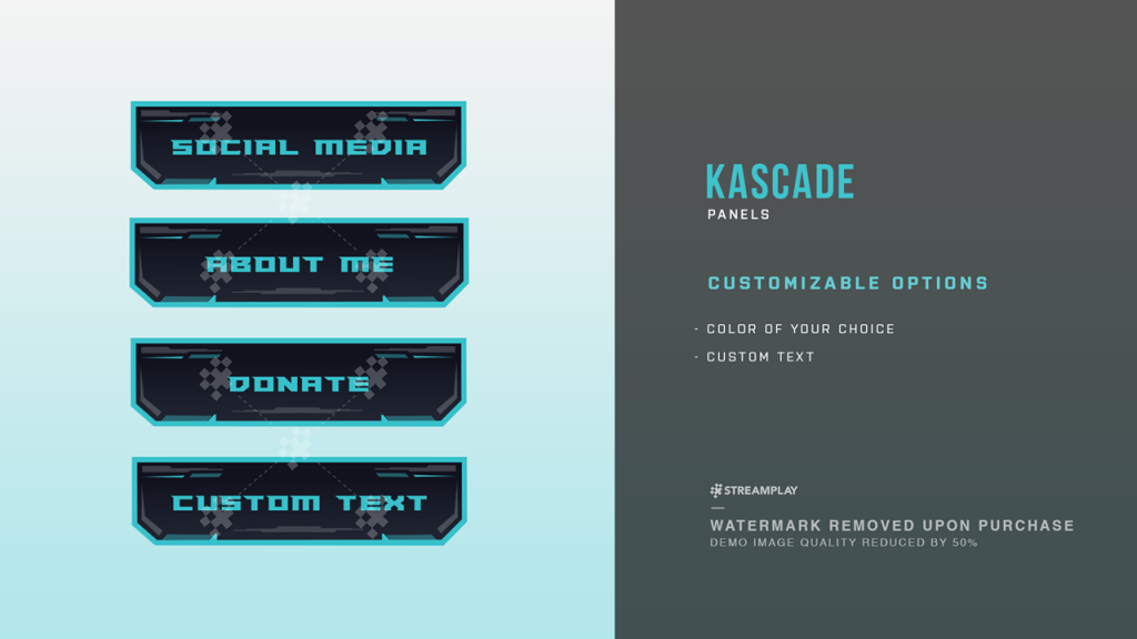 Twitch Panels - Stream Panel Templates For Your Twitch Profile