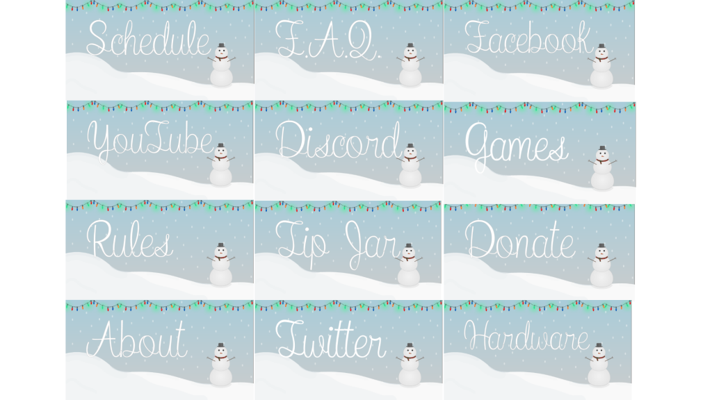 White Christmas Package - Twitch Overlays